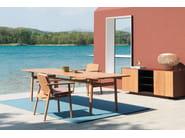 Rectangular teak garden table RIVA | Rectangular table by Kettal
