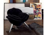 Cadeira lounge de veludo ROSE CHAIR by edra