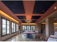 Sound-absorbing ceiling panel SILENTE   Hanging acoustic panel by Caruso Acoustic