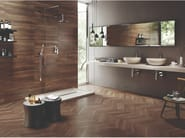 Porcelain stoneware wall/floor tiles with wood effect SLEEK WOOD NUT by EmilCeramica