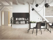 Porcelain stoneware wall/floor tiles with wood effect SLEEK WOOD WHITE by EmilCeramica