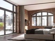 Porta-finestra a battente ad anta-ribalta in legno