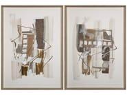 Paper Painting Taos I & II by NOVOCUADRO ART COMPANY