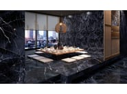 Porcelain stoneware wall/floor tiles with marble effect TELE DI MARMO REVOLUTION CALACATTA BLACK by EmilCeramica