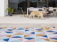 Polyester outdoor rugs with geometric shapes TRIÁNGULOS II KILIM by NOW Carpets