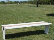 Panchina in acciaio e legno