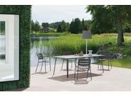 Rectangular aluminium garden table VILLAGE | Rectangular table by Kettal