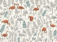 Carta da parati tropicale PVC free, eco, lavabile OASI ROSA by Wallpepper