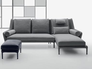 Fabric sofa with chaise longue ÉDOUARD | Sofa with chaise longue