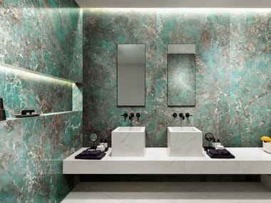 Porcelain stoneware wall/floor tiles with marble effect ÉTOILE DE REX