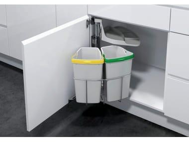 Steel kitchen bin for waste sorting ÖKO-CENTER 2