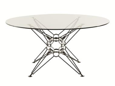 Tavolo Rotondo Vetro E Acciaio.Tavoli Rotondi In Acciaio E Vetro Archiproducts