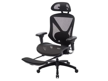 Mesh executive chair with 5-spoke base with headrest MENGKE