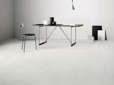 Indoor/outdoor porcelain stoneware wall/floor tiles with concrete effect with resin effect 0 F COLD