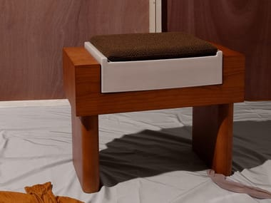 Wood veneer stool / coffee table 01 | Low stool
