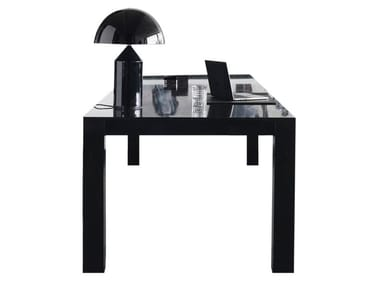 Lacquered oak office desk with cable management 0120   Office desk