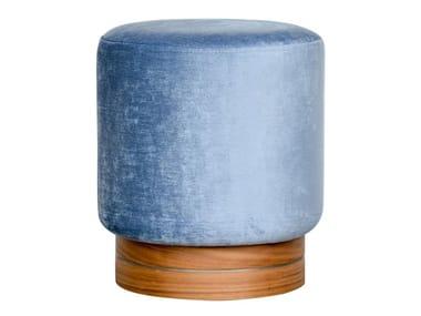 Upholstered round velvet pouf 0310 | Pouf