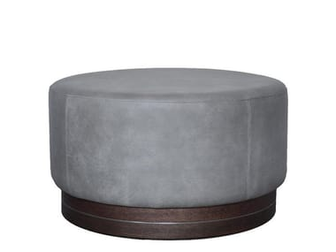 Upholstered leather pouf 0320 La Sorella – Big Pouf Leather