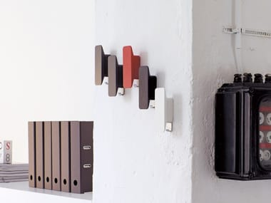 Wall-mounted wooden coat rack STROKE