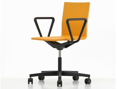 Sedia ufficio in schiuma poliuretanica integrale a 5 razze con braccioli .04 | Sedia ufficio con braccioli
