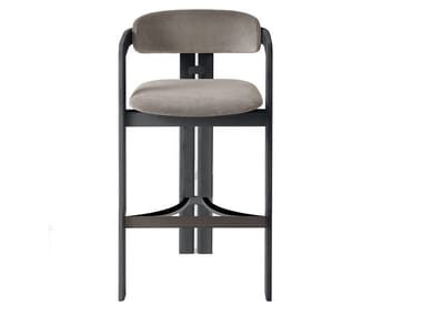 High solid wood stool with back 0419