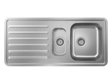 Lavello a una vasca e mezzo da incasso in acciaio inox S41 | Lavello a una vasca e mezzo