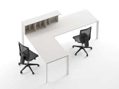 Modular desk 1,2 cm-thick desk