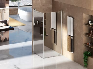 Corner shower cabin with pivot door NATURA 4000 - A-EDT L/R