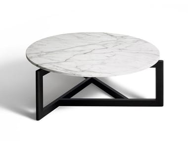 Round marble coffee table CONNECTICUT