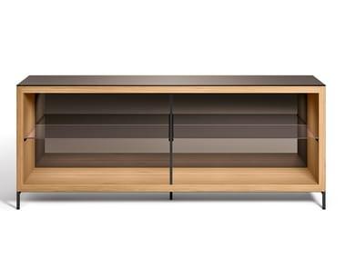 Madia in legno e vetro COMBI OPEN UNITS | Madia in legno e vetro
