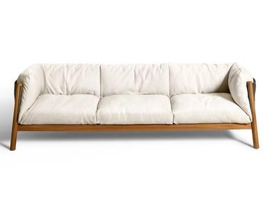 3 seater garden sofa with removable cover YAK OUTDOOR | Garden sofa