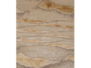 Handmade rug in wool ans silk NAMIB ALEZAN