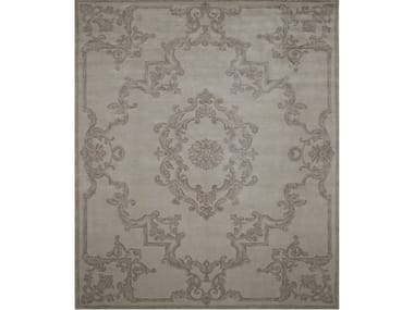 Handmade rectangular silk rug ALDEBARAN GALENA