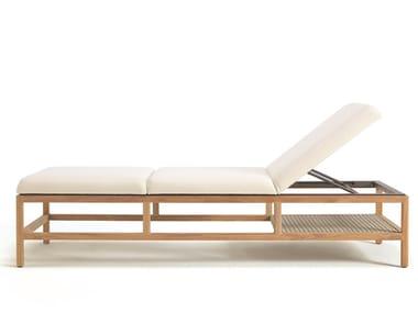 Recliner teak sun lounger GRAND LIFE | Sun lounger