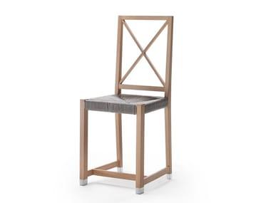 Chaise de jardin en bois massif MOKA OUTDOOR | Chaise en bois