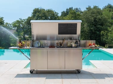 Gas stainless steel outdoor kitchen FINALMENTE | Gas outdoor kitchen