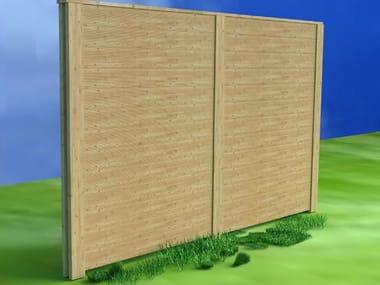 Wooden Anti-noise road barrier ALFACUSTIK | Anti-noise road barrier