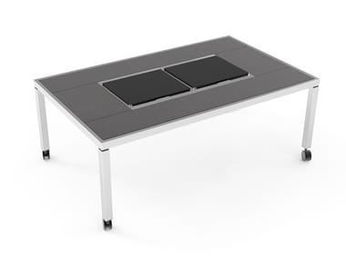 Dining table with cooling and warming modules Warming&Cooling Dining table