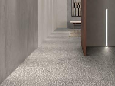 Porcelain stoneware wall/floor tiles with concrete effect ZOOM FOAM GLOW