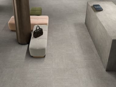 Porcelain stoneware wall/floor tiles with concrete effect ZOOM REEF GLOW