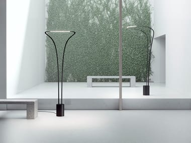 LED indirect light aluminium floor lamp AMIDABA | Floor lamp