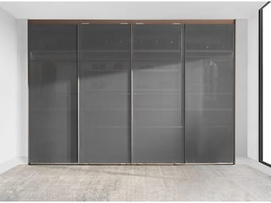 Wardrobe with canvas sliding doors AIR