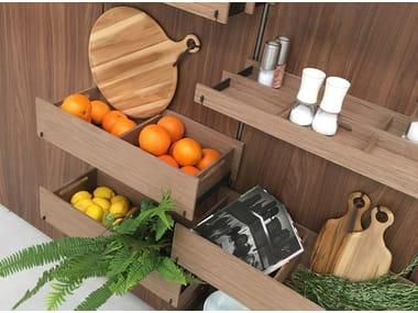 Fitted wooden Kitchen backsplash EMPORIO