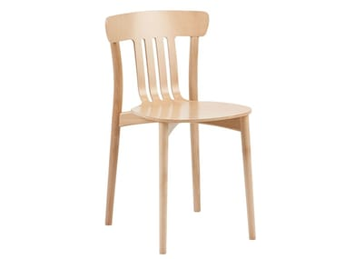 Stackable wooden chair CORTE A-4311
