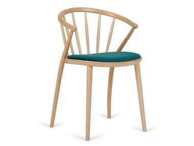 Cadeira de madeira com almofada integrada SUDOKU B-9820 | Cadeira com almofada integrada