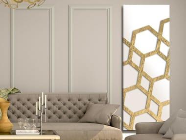 Radiateur décoratif à panneau vertical mural en aluminium FOGLIA D'ORO - DP 00516