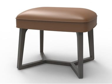 Low cowhide stool TACIT | Stool