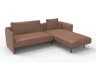 Sectional cowhide sofa WISE | Sofa