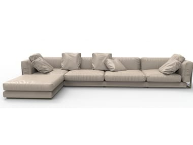 Sectional cowhide sofa KNOWLEDGE | Sofa
