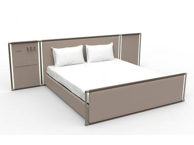 Double bed with high headboard WISE | Bed